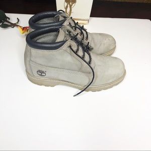 TIMBERLAND Grey high top boots. Size 8